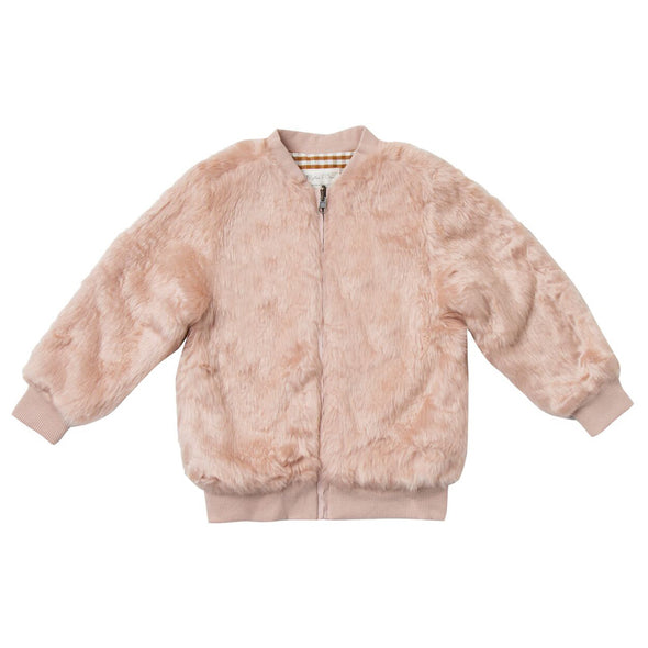 Fur bomber jacket (Family Matching Outfits)
