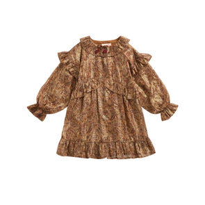 Louise Misha Dress Kerly Bronze Flowers - TA-DA!