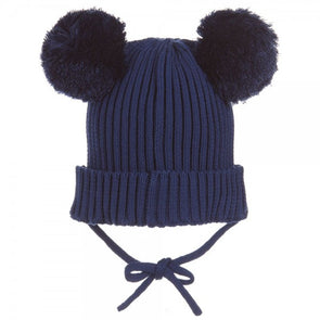 Mini Rodini Panda Ear Hat (Navy / Black) - TA-DA!