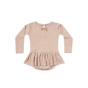 Quincy Mae Pointelle Skirted Onesie(Rose) - TA-DA!