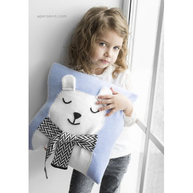 Apero Knit Bear Pillow (Blue / Mint) - TA-DA!