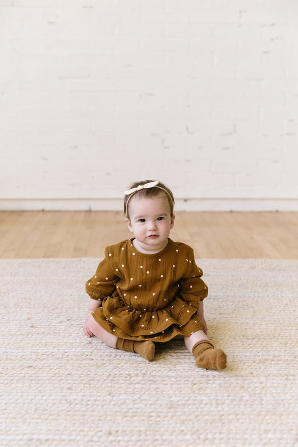 Belle Dress (Pebble / Walnut)