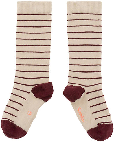 Tiny Cottons Stripes high socks (Multi Colours) - TA-DA!