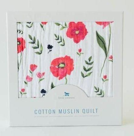 Little Unicorn Cotton Muslin Quilt (Summer Poppy) - TA-DA!