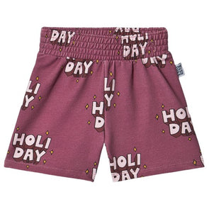 Shorts - (Holiday AOP)(Purple)