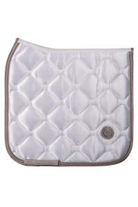 White dressage dlux saddle pad