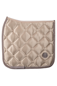 Beige dressage dlux saddle pad