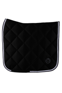 Black dressage lago saddle pad