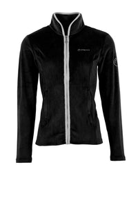 Poppy black velour fullzip