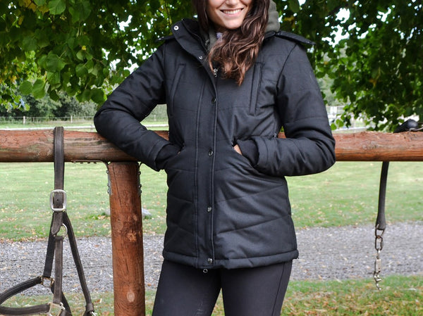 Dicte short jacket - black, Sustans filling with DuPont Sorona® and micro-fleece lining