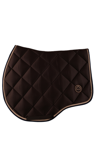 Brown jump lago saddle pad