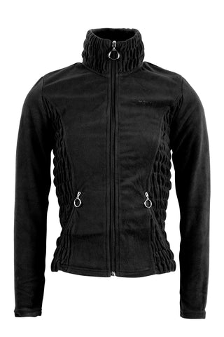 Carla black fleece fullzip wringle