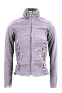 Carla grey fleece fullzip wringle
