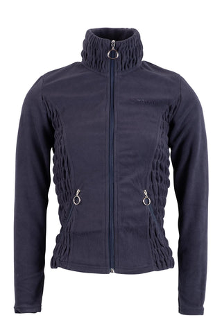 Carla navy fleece fullzip wringle