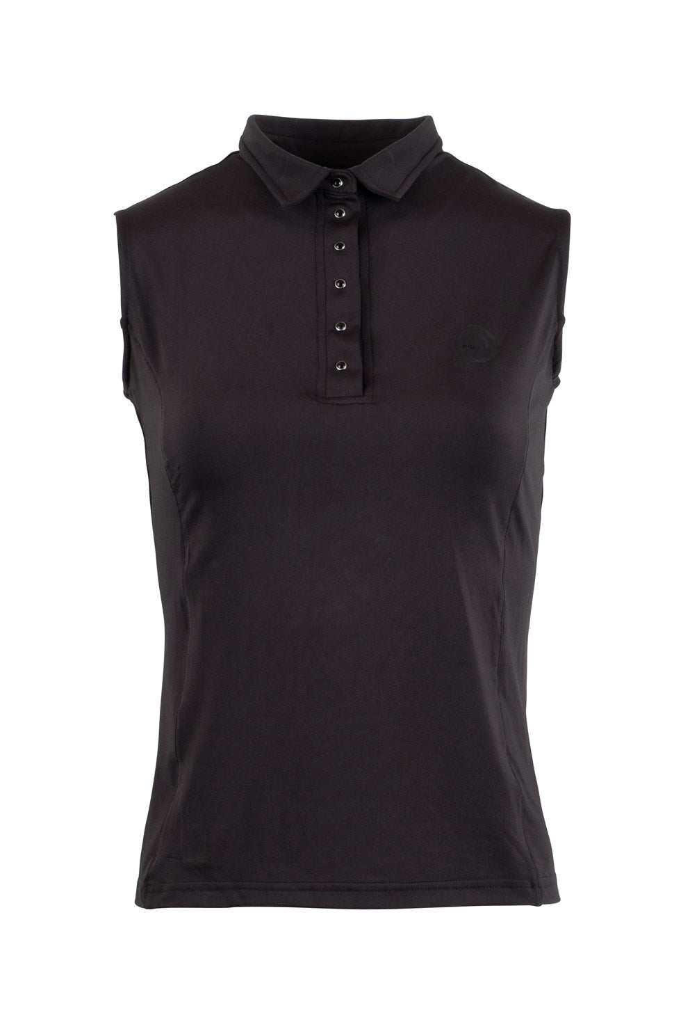 Charlie black sleveless polo