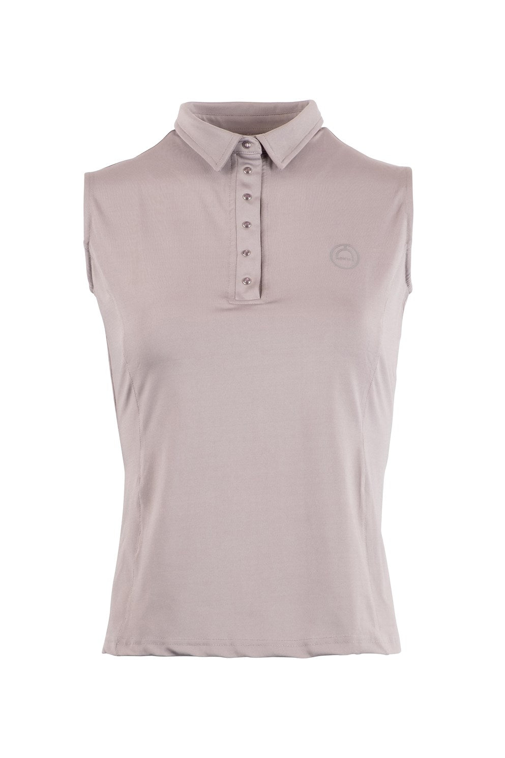 Charlie light grey sleveless polo
