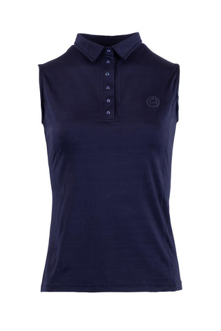 Charlie navy sleveless polo