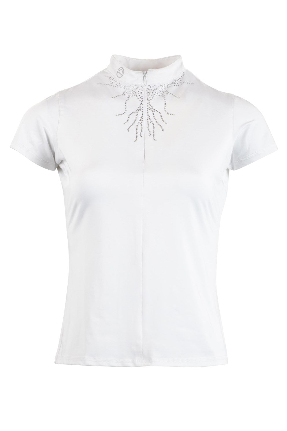 Juliana Competition Shirt Crystal Flames - White