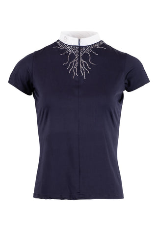 Juliana Competition Shirt Crystal Flames - Navy