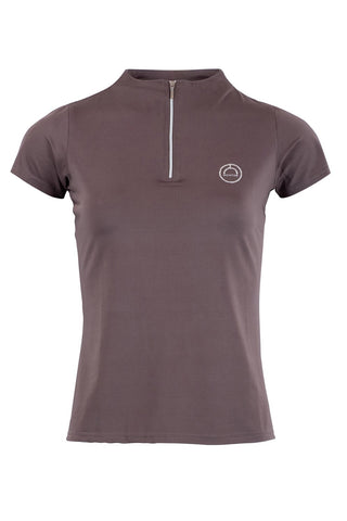 Everly grey polo crystal logo