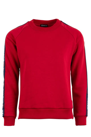 Ingrid rubyred sweatshirt logo tape