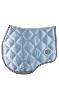 Light blue jump dlux saddle pad