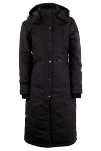 Dicte extralong jacket with slits - black, Sustans filler with DuPont Sorona® and micro-fleece lining
