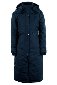 Dicte extralong jacket with slits - navy, Sustans filler with DuPont Sorona® and micro-fleece lining