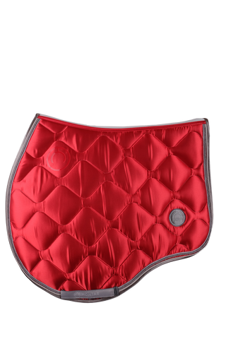Tomato Red jump dlux saddle pad
