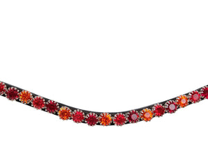 Browband Mighty mix red- brown leather