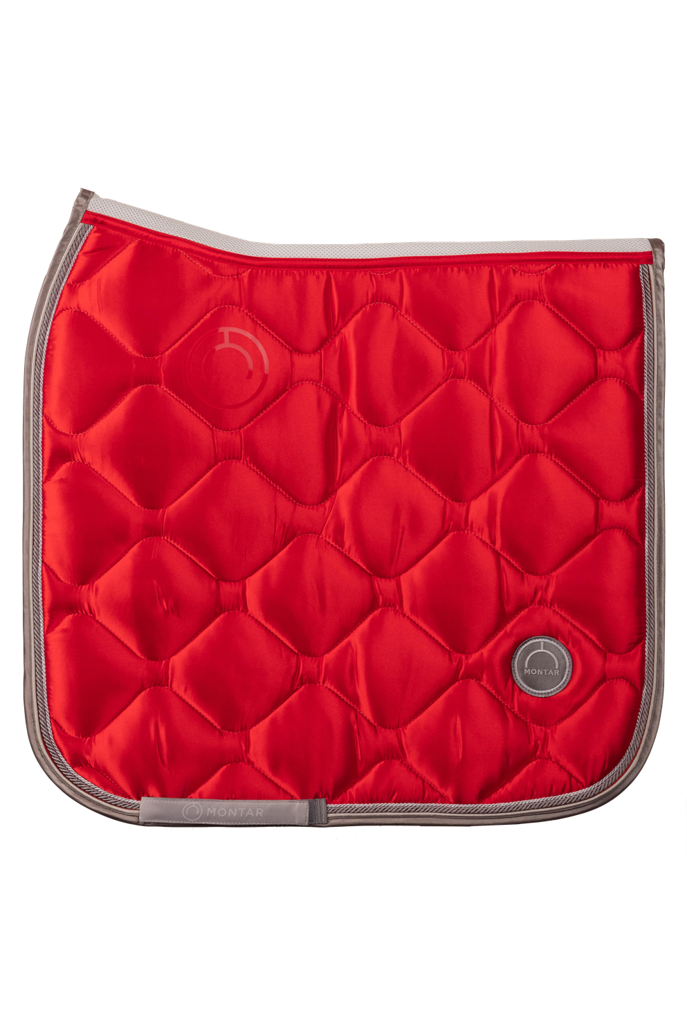 Tomato red dressage dlux saddle pad