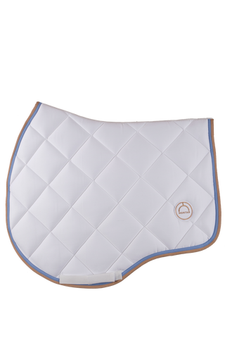 White jump lago saddle pad