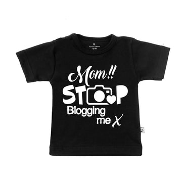 T-Shirt mom stop blogging me