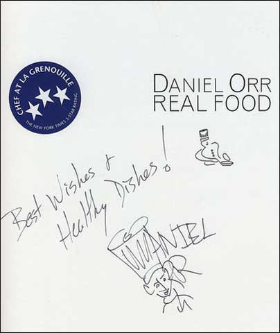 Daniel Orr Real Food Signed Cookbook