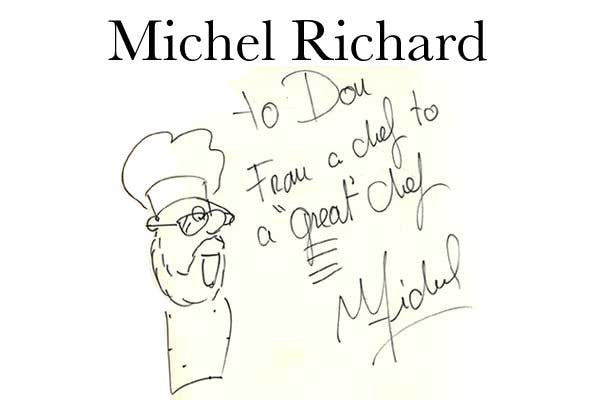 Michel Richard Autograph