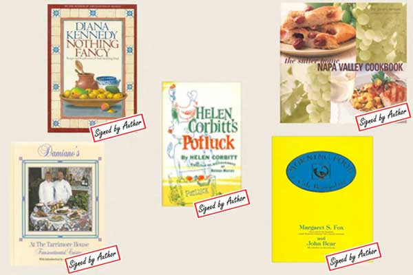 Signed Cookbooks Recently Listed on Cookbook Village