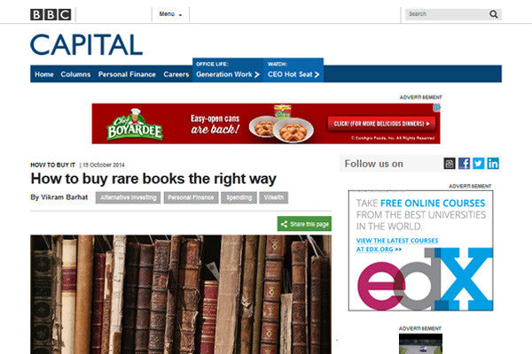 BBC Capital Buying Rare Books