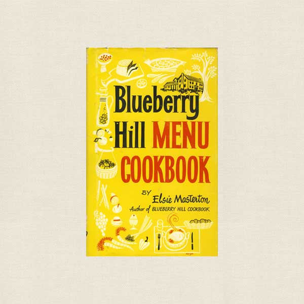 Blueberry Hill Menu Cookbook - Vintage