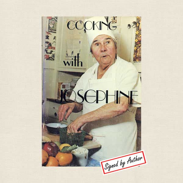 Cooking with Josephine French Cookbook - Autographed