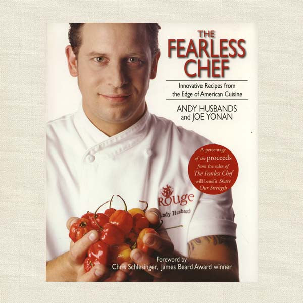 The Fearless Chef by Andy Husbands. Cookbook Cover