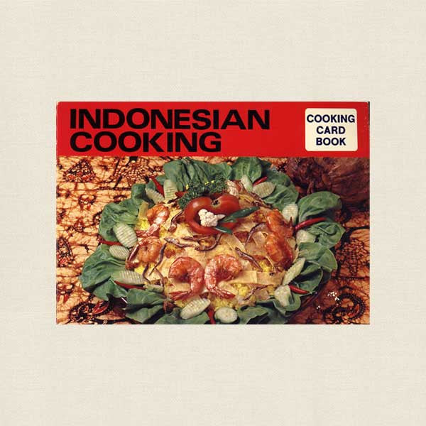 Indonesian Cooking Cookbook - Cooking Card Books