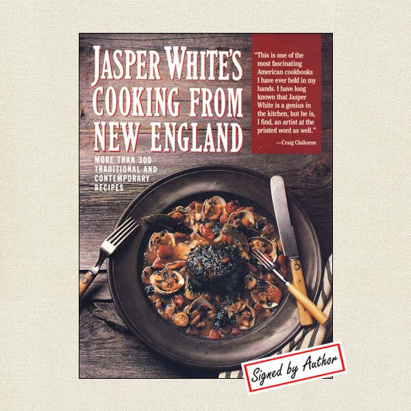 Jasper White's Cooking from New England Cookbook - Signed