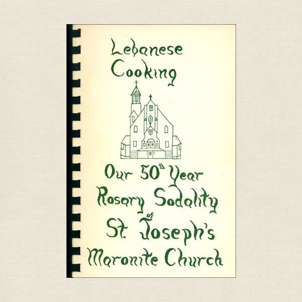 Lebanese Cooking book St. Joseph's Maronite Church