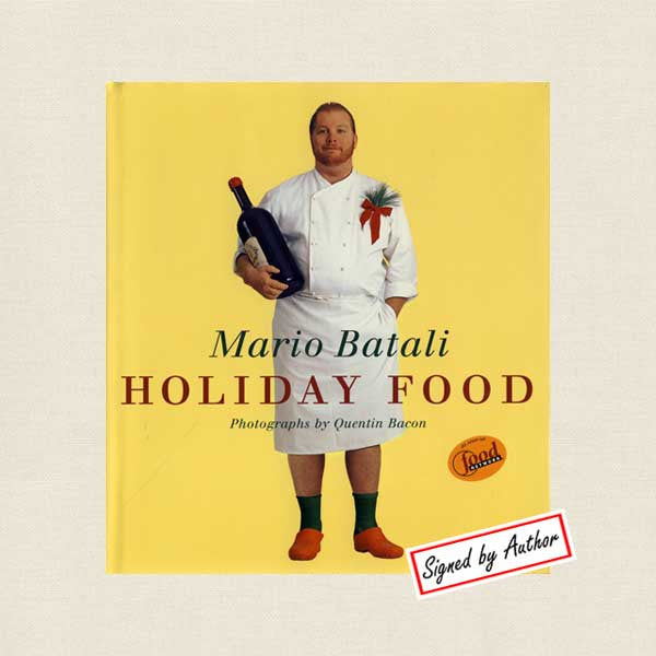 Mario Batali Autographed Holiday Food Cookbook