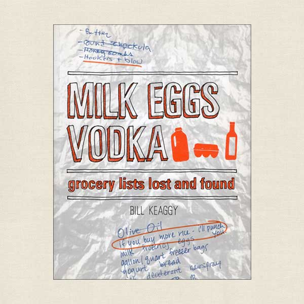 Milk Eggs Vodka - Grocery Lists Lost and Found