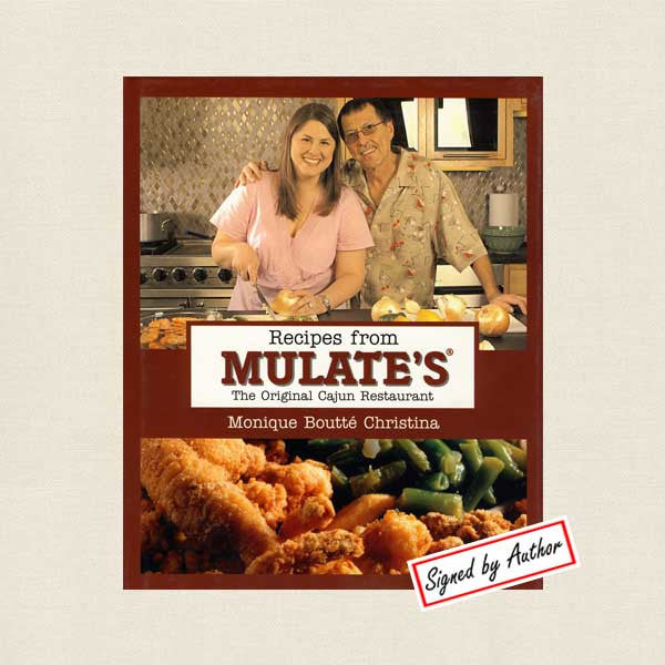 Recipes from Mulate's Cookbook - Cajun Restaurant New Orleans - Signed