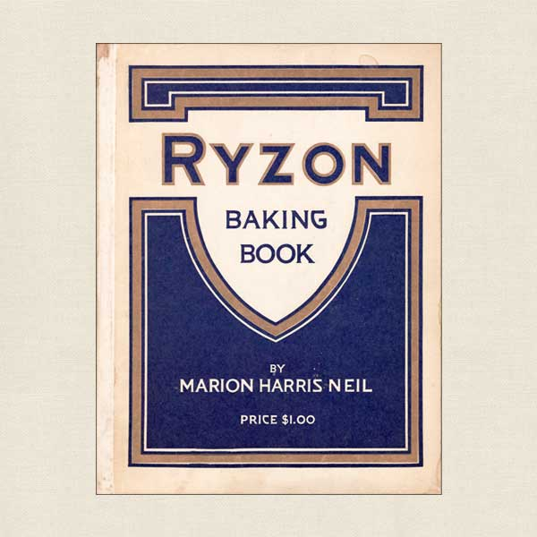 Ryzon Baking Book, Vintage Cookbook 1916