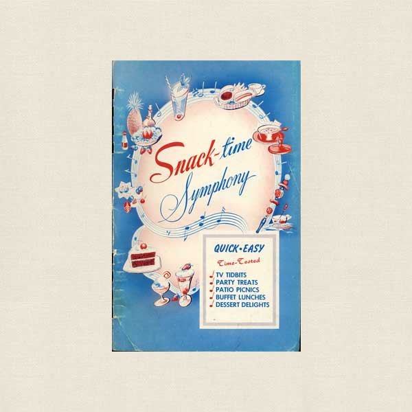 Snack-time Symphony Vintage Cookbook - American Legion