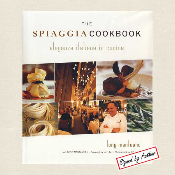 Spiaggia Cookbook Autographed - Chicago Italian Restaurant