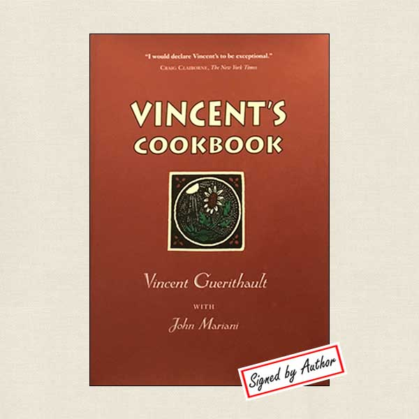 Vincent's Cookbook Restaurant Phoenix Signed